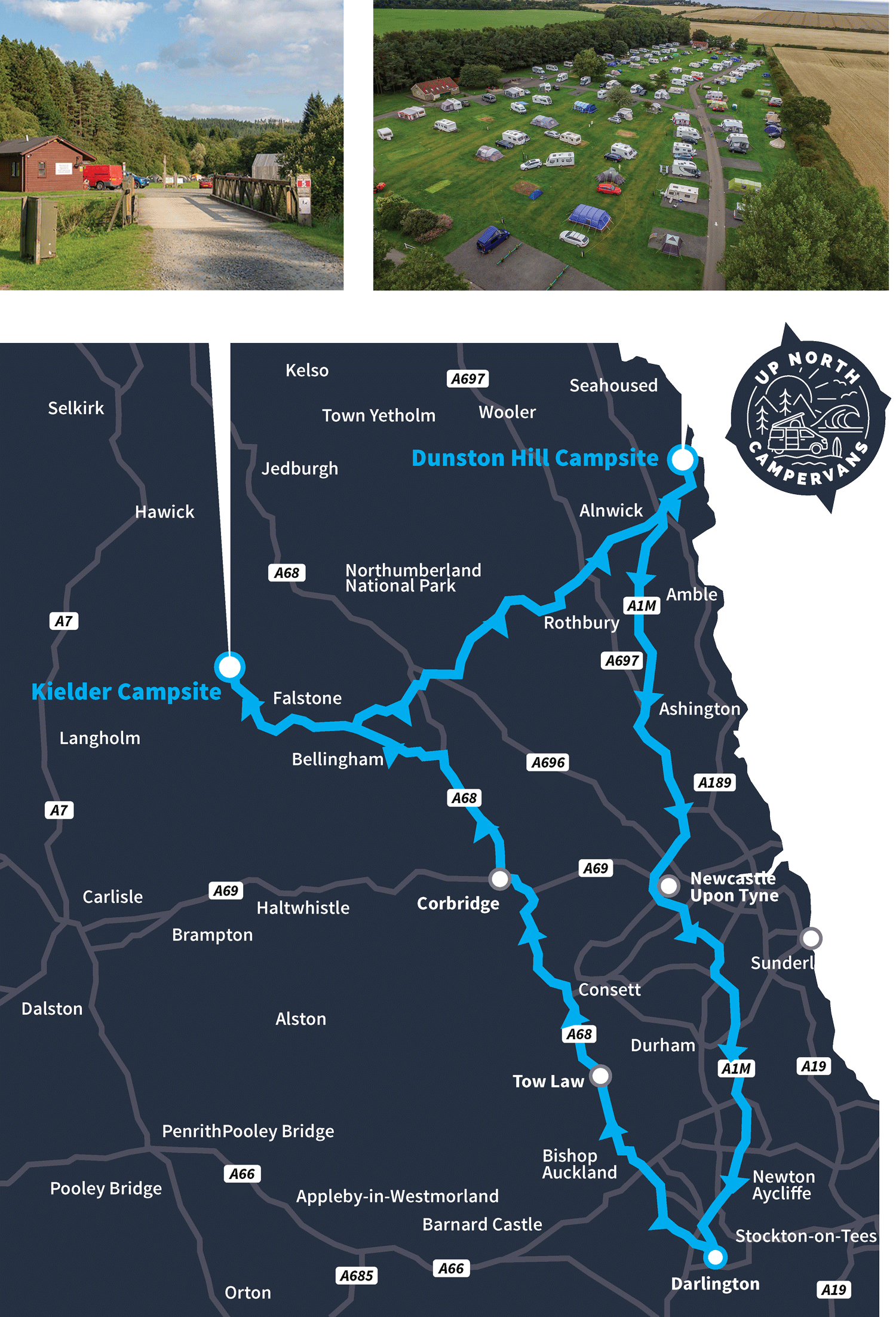 Map of Northumberland tour