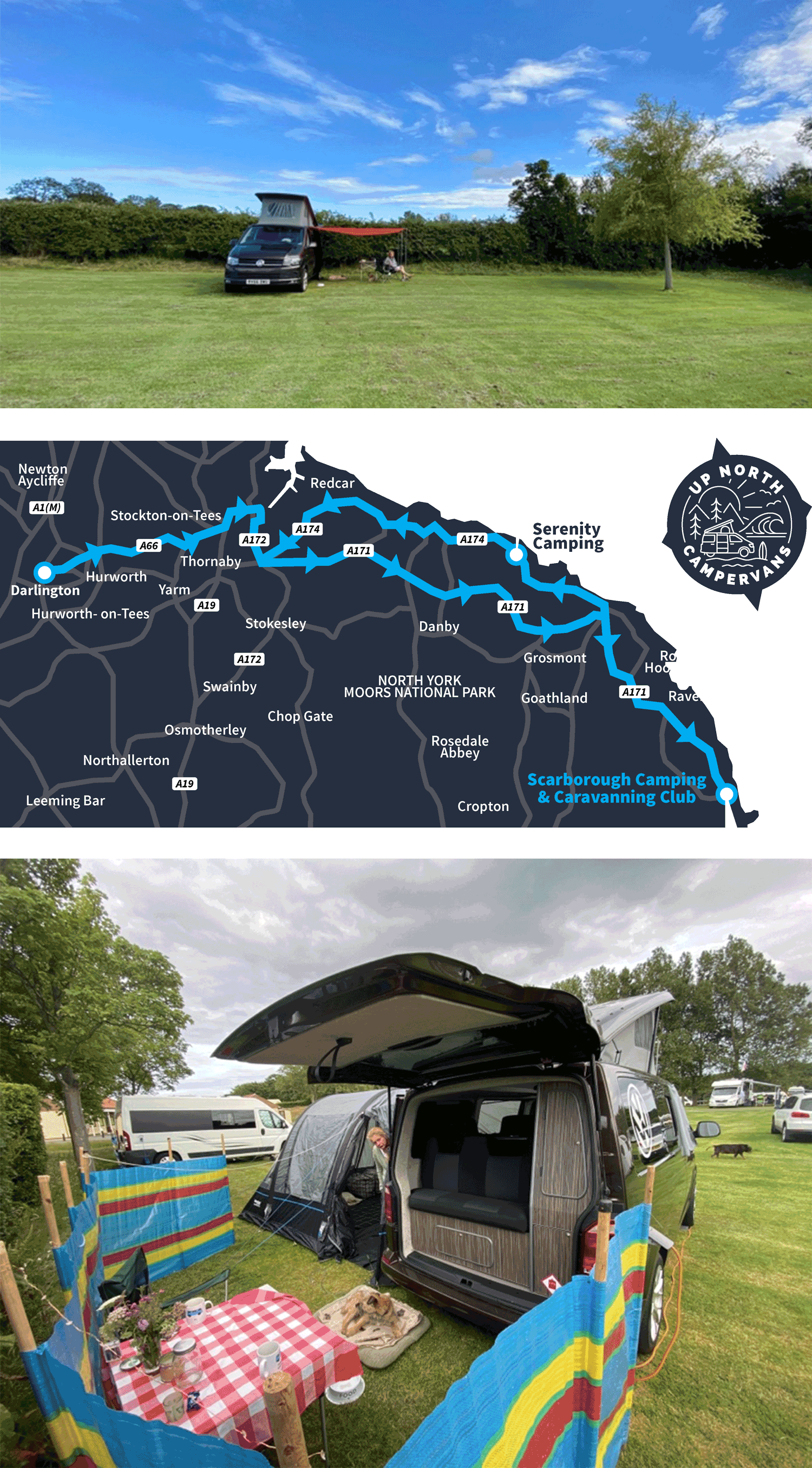 Map of North Yorkshire Coast tour