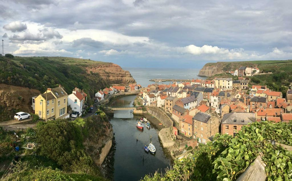 A view over the coastal town of Staithes